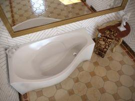 Ванна из литьевого мрамора AquaStone Корсика L/R 170x94 KORSIKA