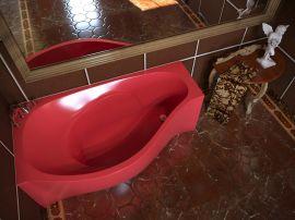 Ванна из литьевого мрамора AquaStone Корсика L/R 170x94