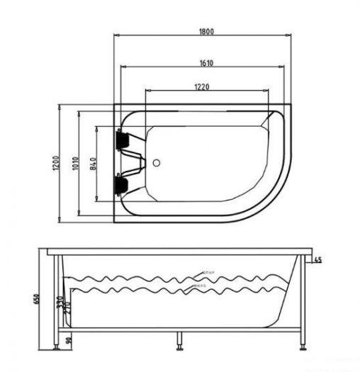 Ванна гидромассажная Grossman GR-18012R