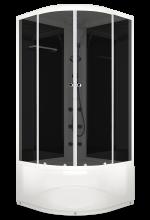 Душевая кабина Domani-Spa Delight 88 High тонированная с блоком управления и гидромассажем