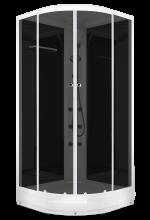 Душевая кабина Domani-Spa Delight 99 тонированная 90x90 с гидромассажем и блоком управления