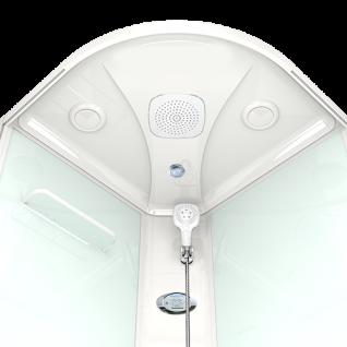 Душевая кабина Domani-Spa Delight 99 прозрачная 90x90 с блоком управления и гидромассажем