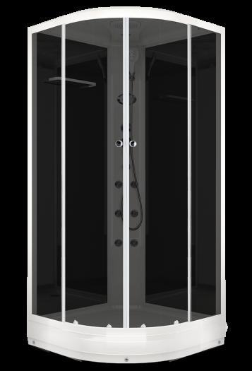 Душевая кабина Domani-Spa Delight 110 тонированная 100x100 с блоком управления и гидромассажем