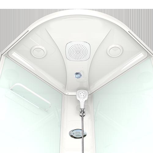 Душевая кабина Domani-Spa Delight 110 прозрачная 100x100 с блоком управления и гидромассажем