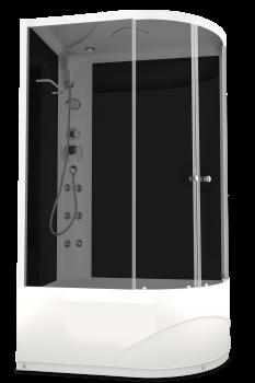 Душевая кабина Domani-Spa Delight 128 L/R High тонированная 120x80 с блоком управления и гидромассажем