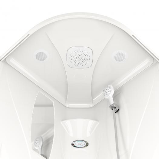 Душевая кабина Domani-Spa Elegance 99 High прозрачная 90x90 с блоком управления и гидромассажем
