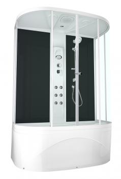 Душевая кабина Domani-Spa Neat High прозрачная 150x80 с блоком управления и гидромассажем