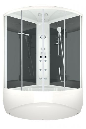 Душевая кабина Domani-Spa Vitality High прозрачная 120x120 с блоком управления и гидромассажем