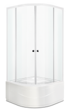 Душевой уголок Domani-Spa Fit 99 High прозрачный 90x90