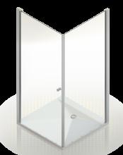Душевое ограждение Domani-Spa Expanse 99 стекло 6мм 90x90 без поддона
