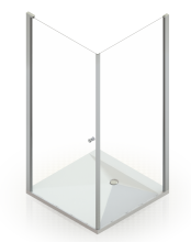 Душевое ограждение Domani-Spa Expanse 99 пентагон стекло 6мм 90x90 без поддона