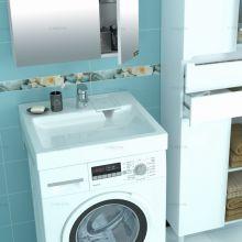 Раковина над стиральной машиной Лидер 600x800 ш/гл с кронштейнами СанТа