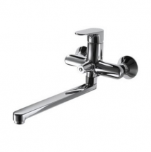 Смеситель для ванны и душа длинный излив Bravat Alfa F6120178CP-01L