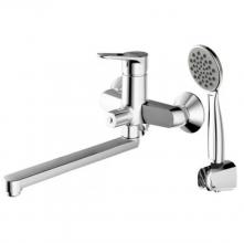Смеситель для ванны и душа длинный излив Bravat Eco-d F693158C-LB