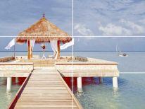 Панно Меланж Мальдивы (из 6ти шт.) 1000х750 голубое
