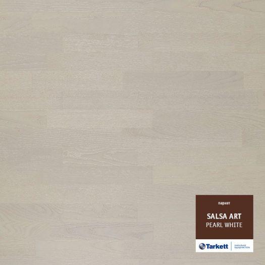 Паркетная доска TARKETT SALSA ART Ясень White Pearl