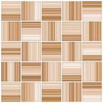 Плитка для пола Меланж мозаика 385х385 коричневая