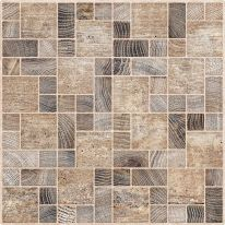 Плитка для пола Тоскана мозаика коричневый 385х385