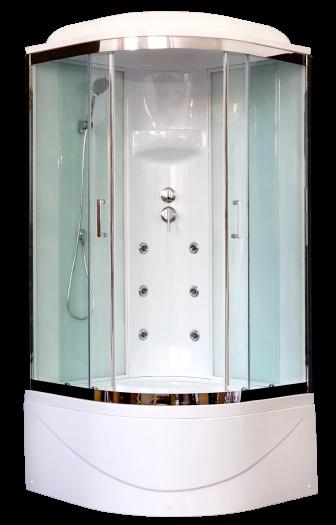 Душевая кабина Royal Bath 90BK3-WT-CH