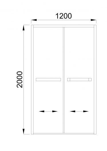 Душевая дверь Royal Bath RB-F-2011 120*200