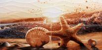 Панно Alma Ceramica Ривьера Звезда из 4-х плиток 49,8х100