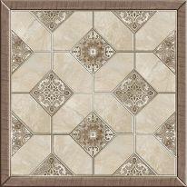 Плитка напольная Alma Ceramica Фиеста Коричневая на белом-24 41,8х41,8