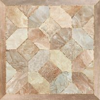 Плитка напольная Alma Ceramica Фиеста Коричневая на белом-04 41,8х41,8