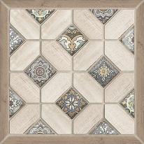 Плитка напольная Alma Ceramica Фиеста Коричневая на белом-34 41,8х41,8