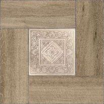 Плитка напольная Alma Ceramica Ранчо Серая в коричневой рамке 41,8х41,8