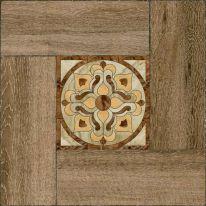 Плитка напольная Alma Ceramica Ранчо Узор в коричневой рамке 41,8х41,8