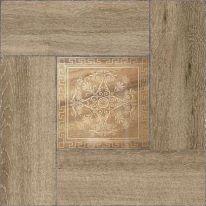 Плитка напольная Alma Ceramica Ранчо Коричневая в коричневой рамке 41,8х41,8