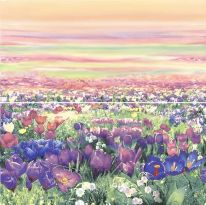 Панно Alma Ceramica Примавера Цветы-2 из 2 плиток 50х49,8