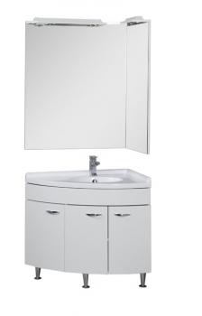 Зеркало Aquanet Корнер 85 белое R арт.158820